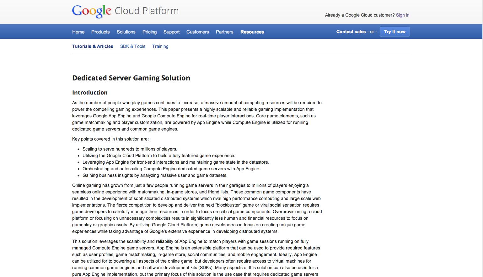 game server solution paper