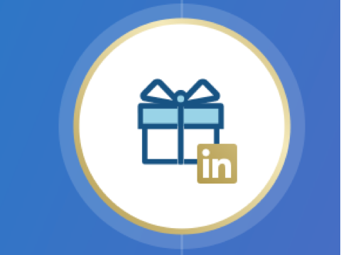 LinkedIn Premium logo with gift icon